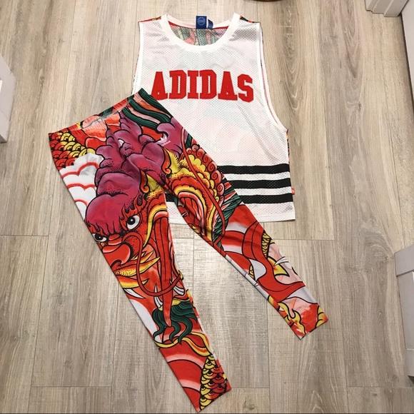 026af5fe604a80 adidas Pants | X Rita Ora Dragon Jersey Matching Leggings | Poshmark
